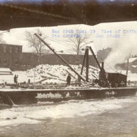 A view of cofferdam B.L. at Station 6805+50, photo (NYSA, 1909-01-13).jpg