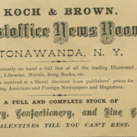 Koch and Brown's Postoffice News Room, trade card back (c1900).jpg