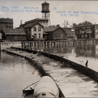 A view looking west along the crest of the dam in Tonawanda, photo (NYSA, 1910-07-19).jpg