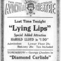 Avondale Theatre, Lying Lips, ad (Tonawanda News, 1922-05-31).jpg