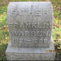 Franklin, Warren, photo of grave in Sweeney Cemetery.png