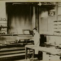 Barrel Organ Factory barrel-pinning, photo (Trager, c1900).jpg