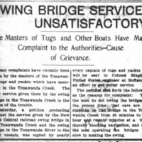 Swing Bridge Service Unsatisfactory, article (Tonawanda News, 1906-06).jpg