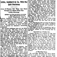 They Will Rebuild - Gillie, Goddard and Co., will not quit business, article (Buffalo Courier, 1896-06-07).jpg