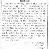 Niagara MIMC stockholder notice (Tonawanda News, 1917-01-06 ).jpg