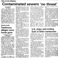 Contaminated sewers no threat, Durez, article (Ton News, 1986-03-27).jpg