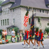 NT girls with muskets and flags, parade, photo (1972).jpg