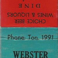 Webster Grill, 112 Webster St, matchbook.jpg