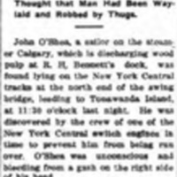 Struck Head Against Rail, article (Tonawanda News, 1912-12-07).jpg