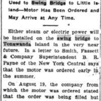 Do Away with Hand Power, swing bridge, article (Tonawanda News, 1907-10-31).jpg