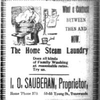 Sauberan Home Steam Laundry, 53-55 Young, ad (Tonawanda News, 1902).png