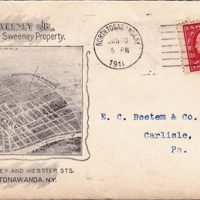 James Sweeney Jr, property agent, map, illustrated envelope (1910-01-05).jpg