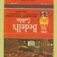 Bedells Candlelite Lounge, matchbook (c1960).jpg