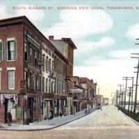 South Niagara Street Showing Erie Canal, postcard (c1900).jpg