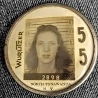 Wurlitzer employee badge of Bonnie Jean Smith-Grunzweig (Lily Rowe).jpg