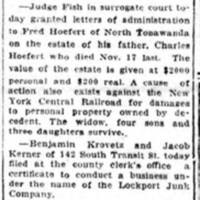 NTMIW Election of Directors, Birnie, Woodruff (Lockport Union-Sun and Journal, 1919-03-05).jpg
