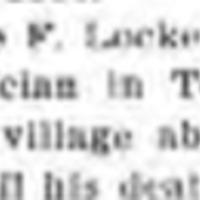 Jesse F Locke 1st physician in Tonawanda, 1838-1860, article (Tonawanda News, 1923-4).png