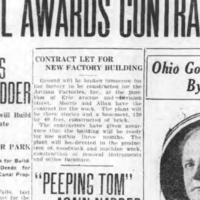 Artizan Plant Groundbreaking Tomorrow, article (Tonawanda News, 1922-04-27).jpg