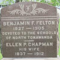 Felton, Benjamin, photo of grave in Sweeney Cemetery.png