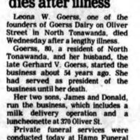 Leona W. Goerss dies, article (1981-12-17).jpg