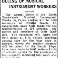 Outing of Musical Instrument Workers, Crystal Beach, article (Tonawanda News, 1914-07-23).jpg