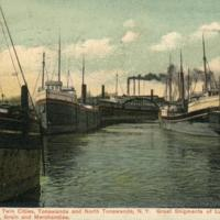 Harbor View in Twin Cities, postcard (c1900).JPG