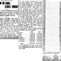 Season on canal closes tonight, figures for past 41 years, article (Tonawanda News, 1914-11-25).jpg
