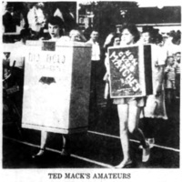 Ted Macks Amatuers, cigarette girls, V-J Day Parade (1950-08-15 Tonawanda News).jpg