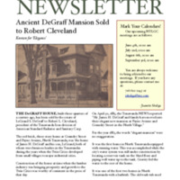 DeGraff Mansion Sold, article (NTLGC, 2011-05).pdf