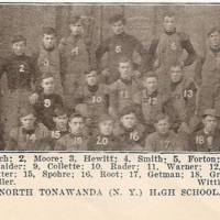 North Tonawanda High School football team, newspaper photo (1907).jpg