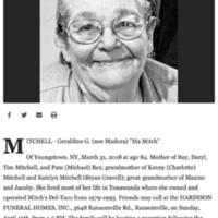 Ma Mitch (Geraldine G. Madura) obit (Buffalo News, 2018-04-12) .jpg