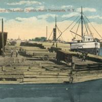 Along the Docks of the Lumber District, postcard (c1900).jpg
