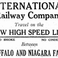 Travel on the New High Spped Line, no cinders, ad (1920-05-12).png