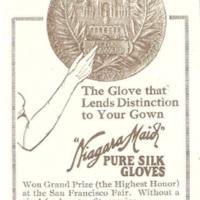 Niagara Maid illustration ad, The Glove That Lends Distinction (1916).jpg