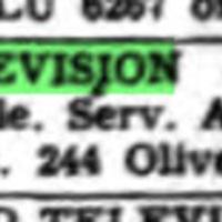 Linde Television, 244 Oliver, ad (Tonawanda News,1954-01-15).jpg