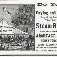Armitage Herschelll Steam Riding Gallery, illustrated ad (1897).jpg