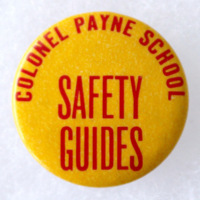 Colonel Payne School, Safety Guides badge (c1970).jpg