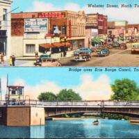 Webster Street and Erie Canal Bridge, postcard (c1930).jpg