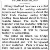 Repairs and Improvements on Swing Bridge by Sidney Stafford, article (Tonawanda News, 1900-11-03).jpg