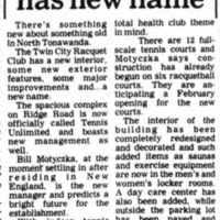 Tennis arena has new name, article (Tonawanda News, 1978-11-22).jpg