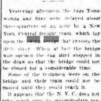 Marine Men Got Even with New York Central, tugs Tonawanda and Bird, article (Tonawanda News, 1905-09-01).jpg
