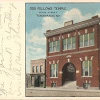 Odd Fellows Temple, Tonawanda, postcard (c1910).jpg