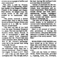 Wood from Black Hannah woods comprises restored boat, article (Tonawanda News, 1986-03-15).png