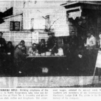 Herschell strikers dine, photo article (Tonawanda News, 1959-11-11).jpg