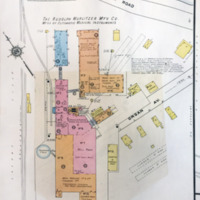 Wurlitzer Mfg Co additions over Organ Ave., map detail (Sanborn Map Company, 1910, 1913).jpg