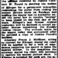 Mayor Rand refuses Oliver theatre movies Sunday license, article (Buffalo Courier, 1915-06-03).jpg