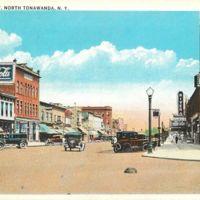 Webster Street, Burtch Drugs and Rivera Theatre, postcard (c1930).jpg