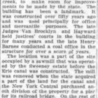 Razing landmark to make room for bridge, Sweeney mill site, article (Tonawanda News, 1917-12-28).jpg