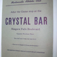 Martinsville Athletic Club, Crystal Bar, scorecard (1947).jpg