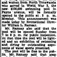 Memorial Pool to open Monday, article (Niagara Gazette, 1948-06-26).jpg